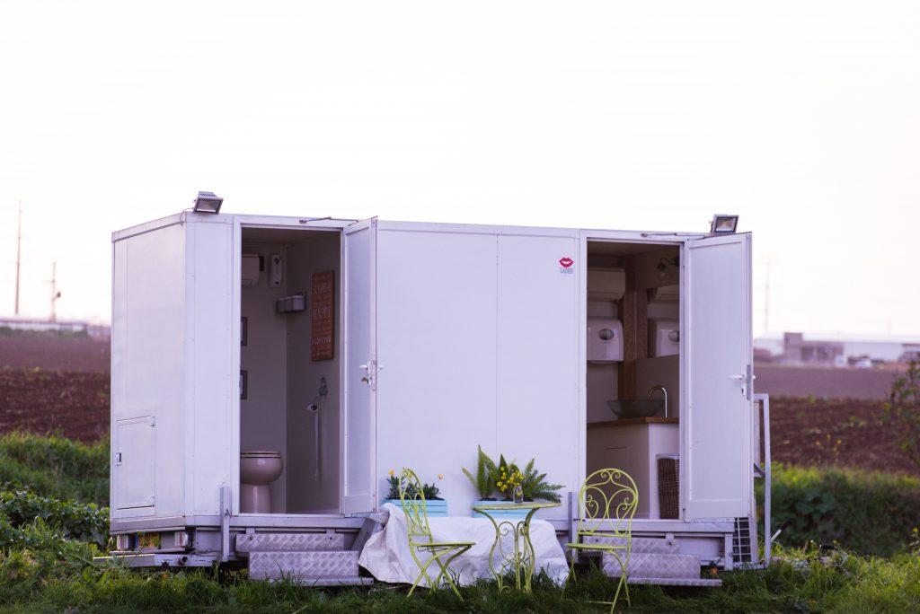 שירותים ניידים - 2 תאים